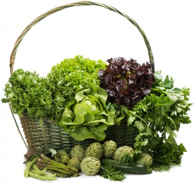 Mixed vegetable in basket