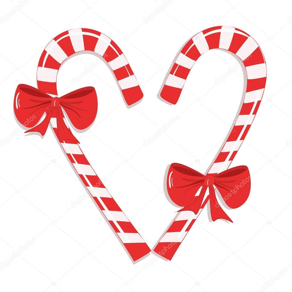 bastones de caramelo de navidad u ilustracin de stock