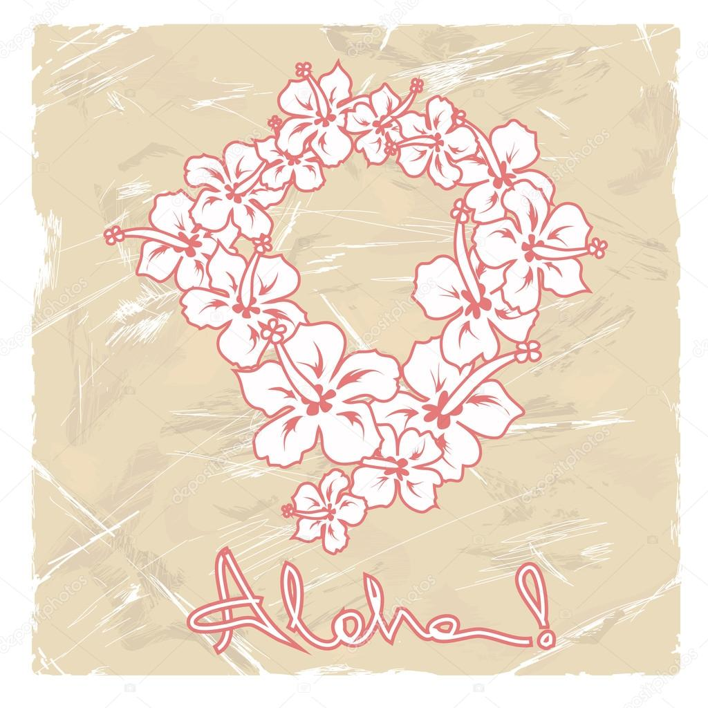 Illustration of hawaiian flower garland stock vector annykos illustration of hawaiian flower garland stock vector izmirmasajfo