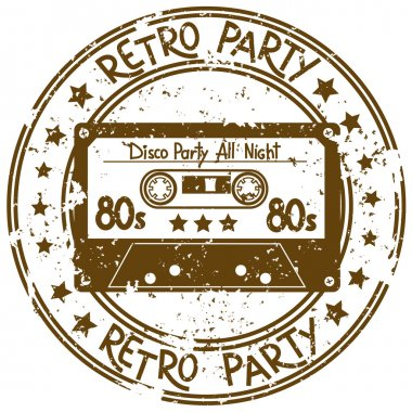 Stamp flyer with cassette tape