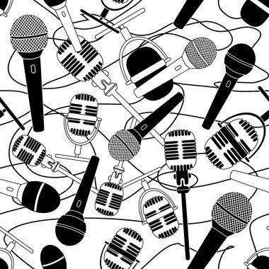 Seamless pattern of microphones