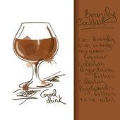 Illusztráció Brandy koktél