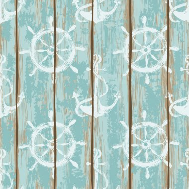 Boards of ship deck seamless pattern