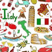 Fotografie náčrt Itálie bezešvé pattern