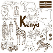 Photo Collection of Kenya icons