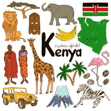Collection of Kenya icons