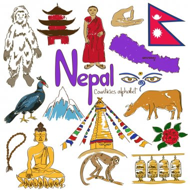 Collection of Nepal icons