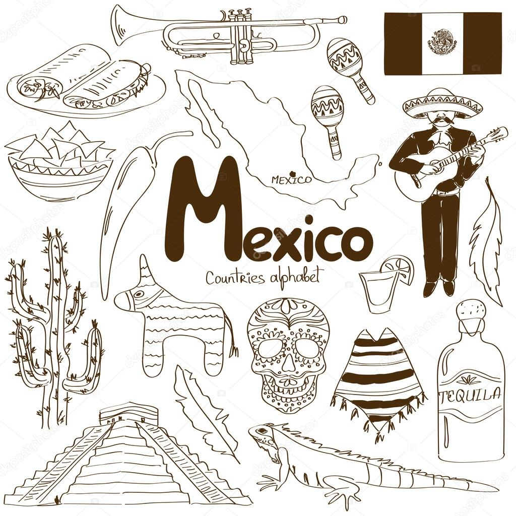 Collection of Mexico icons