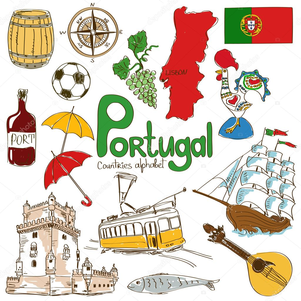 Collection of Portugal icons