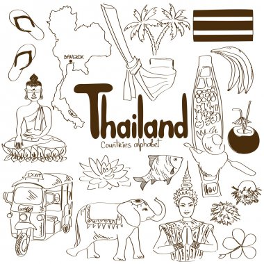 Collection of Thailand icons