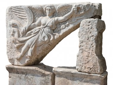 Sculpture of the goddess of victory Nike at Efes.