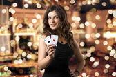 Fotografie junges Mädchen im casino