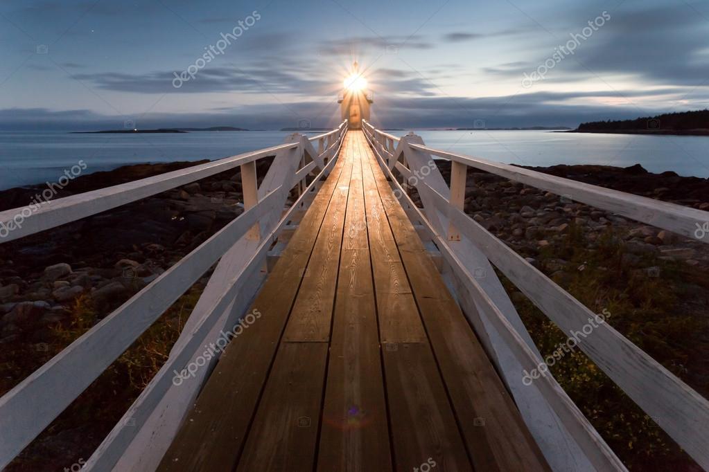 Marshall Point Lighthouse at dusk, Maine, USA