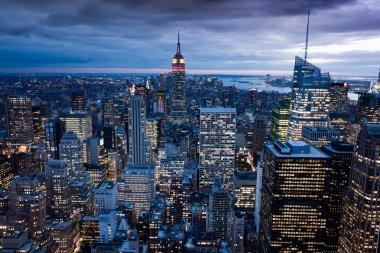 Manhattan from Rockefeller Center, New York, USA