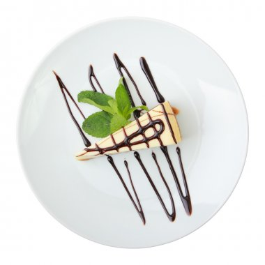 Piece of vanilla cheesecake