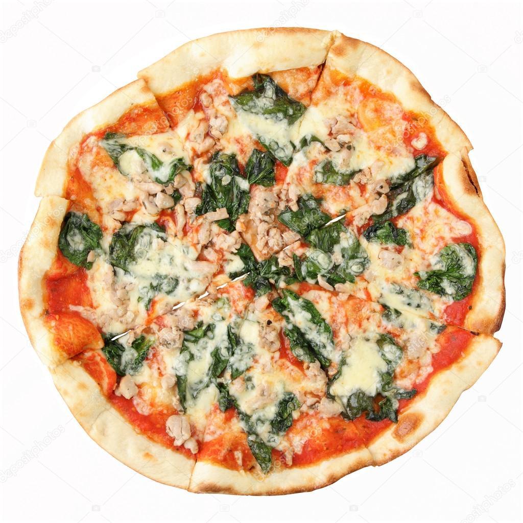 Pizza Spinazie En Kip Stockfoto Whiterabbit83 16250255