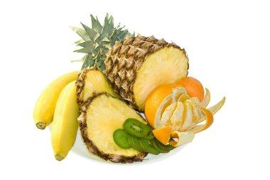 Group of fresh fruits