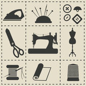 Fotografie sewing icons