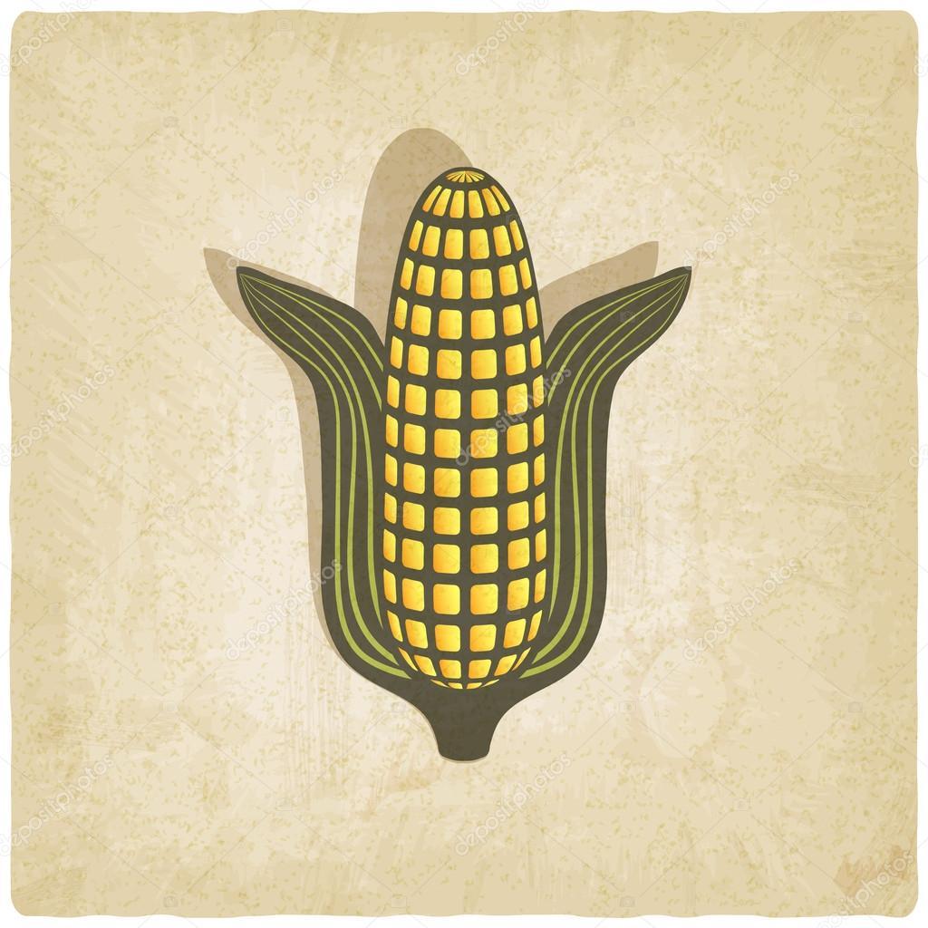 Corn symbol on old background
