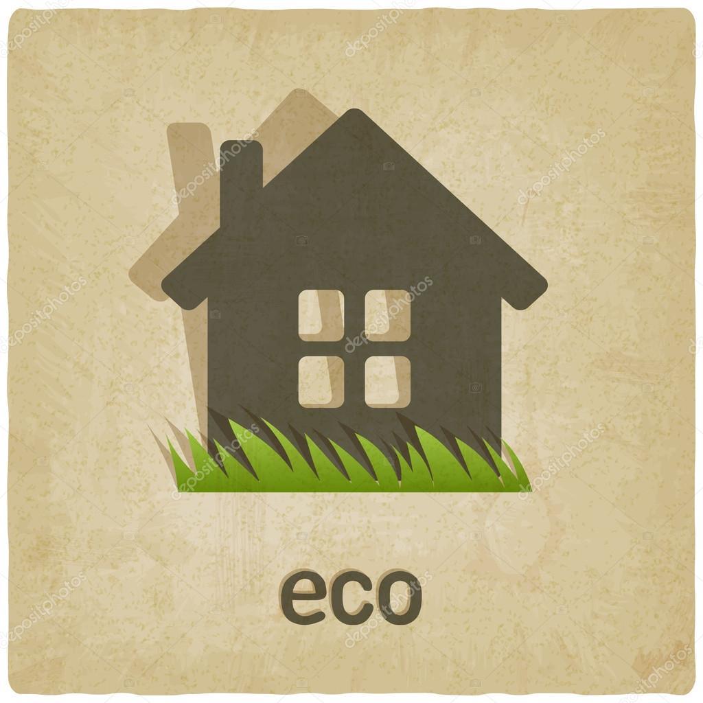 Eco house old background