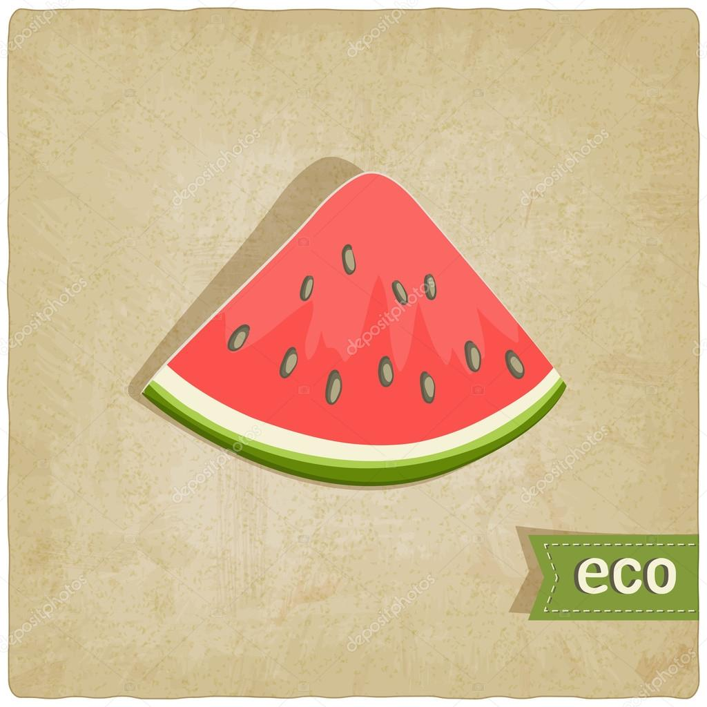 Watermelon eco old background