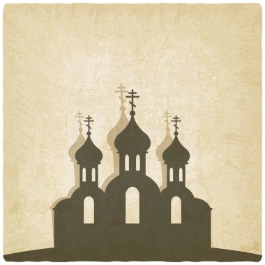 Orthodox church old background
