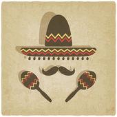 Fotografie alte mexikanische Sombrero-Hintergrund