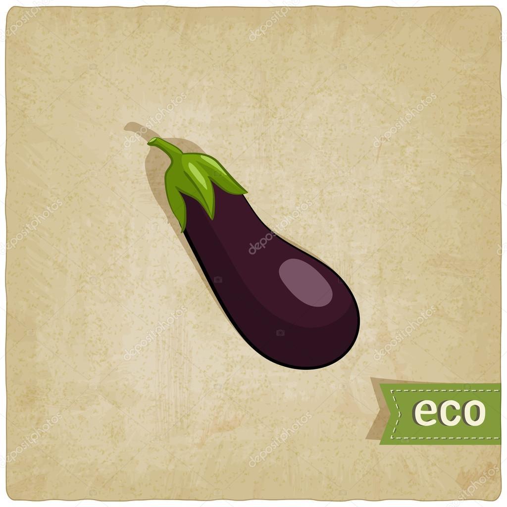 aubergine eco background