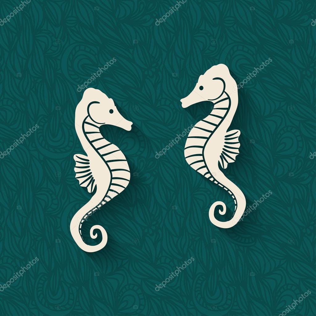 seahorse marine background