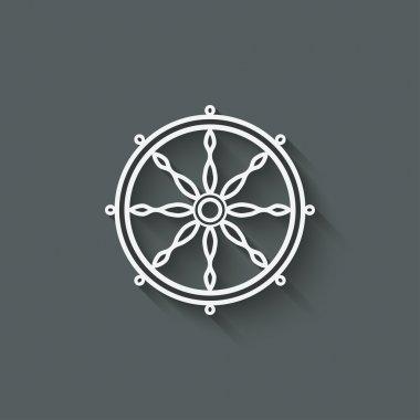 Dharma wheel design element - vector illustration. eps 10 stock vector