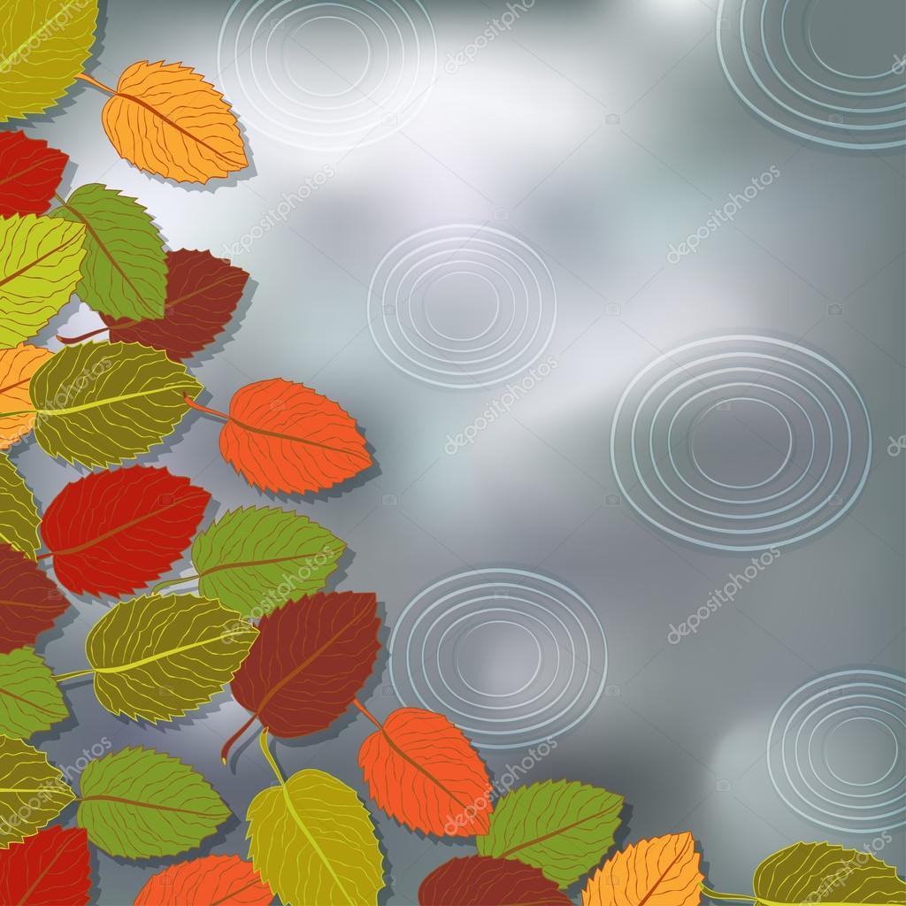 autumn foliage rain background