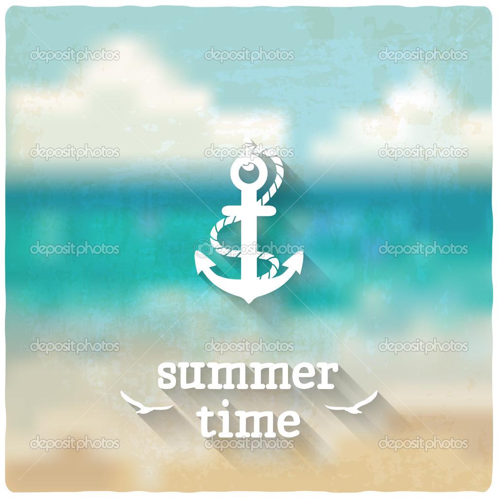 anchor marine blurred background