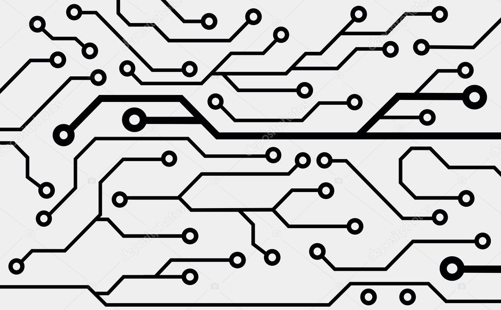 computer circuit board  u2014 stock vector  u00a9 helen