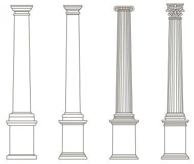 Old-style greece column. eps10 vector illustration