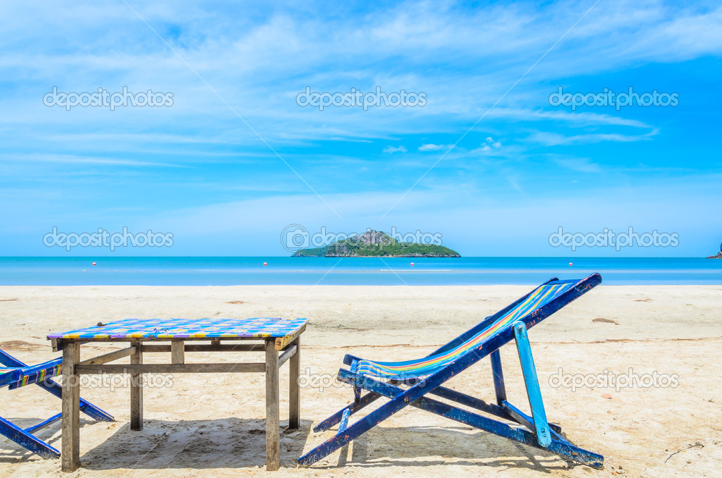 Bett Am Strand In Thailand Stockfoto 33096871