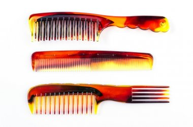 Combs on white