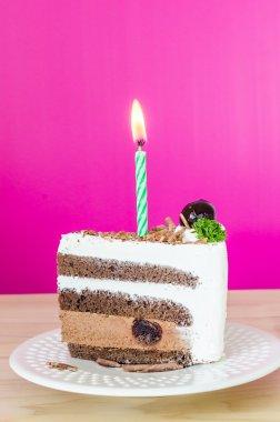 Chocolate cake with black cherry