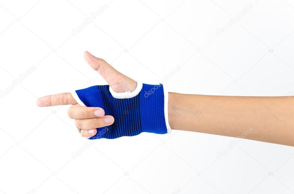 Handgelenk Schiene hand — Stockfoto © mrsiraphol #44658239