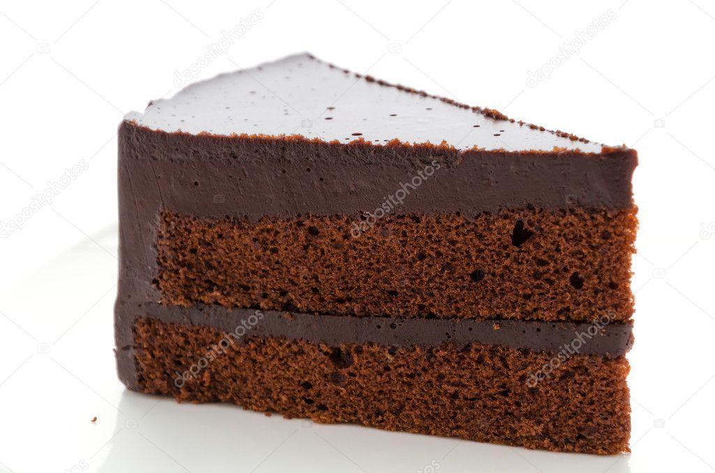 Kuchen Schokolade Isoliert Auf Weissem Hintergrund Stockfoto