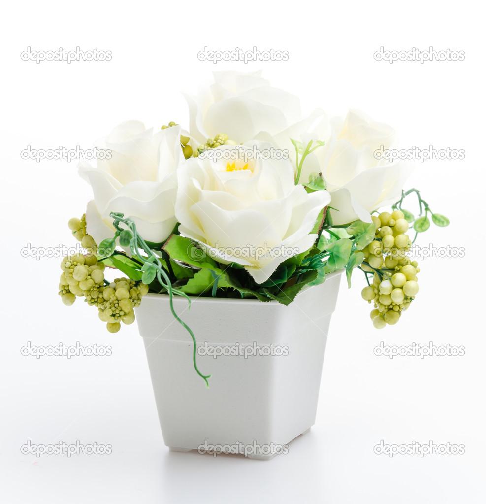 Plastic Flower Vase Stock Photo Mrsiraphol 49191981