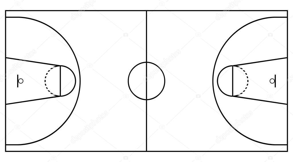 Terrain De Basket Photographie Stockfoto graf 15749275