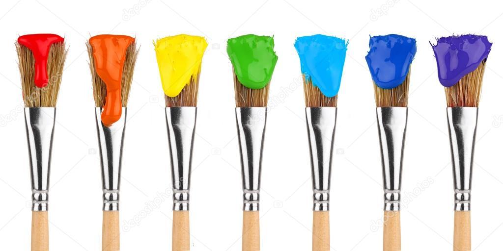 Pinceles para pintar color — Foto de stock © stockfoto-graf #15752123