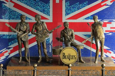 Monument to The Beatles in Donetsk, Ukraine