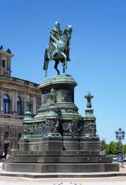 Monument to King John of Saxony in Dresden, Germany