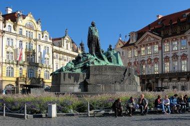 Jan Hus Memorial on Old Town Square in Prague