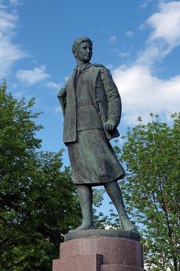 Monument to Zoya Kosmodemyanskaya in Tambov, Russia