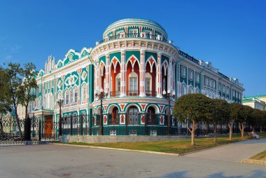 Building in neo-gothic style in Ekaterinburg, Russia