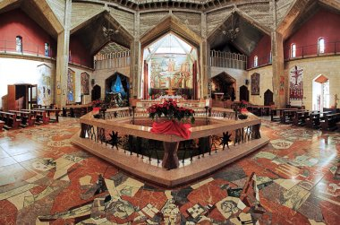 Interior of the Basilica of the Annunciation in Nazareth