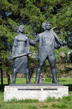 Monument to Komsomol of 30s in Komsomolsk-on-Amur