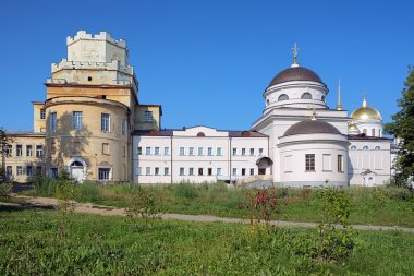 Churches in Novo-Tikhvin monastery of Yekaterinburg, Russia